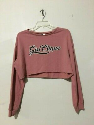 e3fcc660b0a H & M Divided Girl Clique Blush Pink Crop Top Size M Women Hot Stylish Sexy