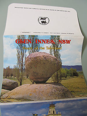 Vintage Murray Views Foldout Colour View Folder, GLEN INNES NSW unused
