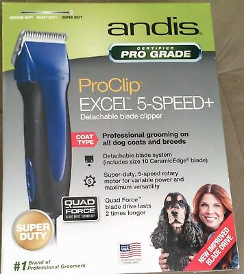 New andis ProClip excel 5-speed+ detachable blade clipper dog animal