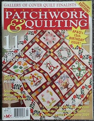 Patchwork & Quilting Magazine Vol.18 No.5 2009 Collector's Edition Quilts Sewing