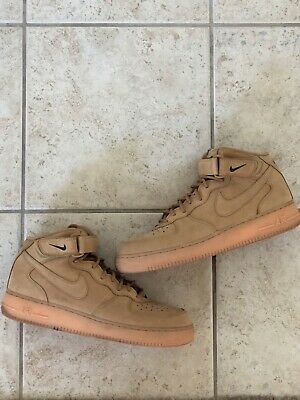 new concept 04364 9691a USED NIKE AIR Force 1 Mid Flax/Wheat
