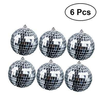 """8"""" / 2 Mirror Glass Disco Ball DJ Dance Home Party Bands Club Stage Lighting"""