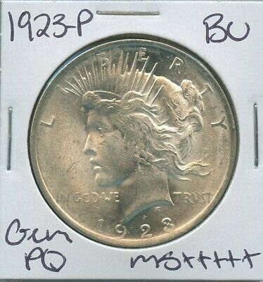 1923-P Peace Dollar Uncirculated US Mint Coin PQ Gem Silver Coin BU Unc MS+++++