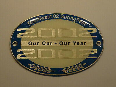 Plakette BMW 2002 Our Car Our Year Northwest 02 Springfest