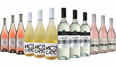$99 Delivered Moscato White Wine Mixed 12x750ml RRP $299 Free Shipping
