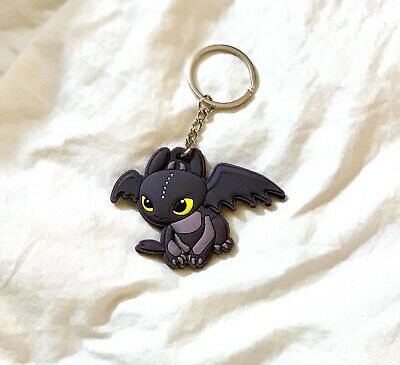 How To Train Your Dragon Toothless Night Fury Keychain Ring Toy US Seller