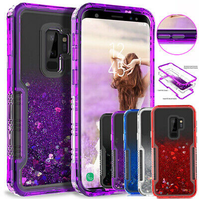 Shockproof Liquid Quicksand Glitter Cover Case for Samsung Galaxy S9 S8/Note 9 8