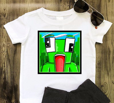 Kids' Clothes, Shoes & Accs. Cheap Sale Unspeakable Kids White T Shirt Childrens Gaming Unspeakablegaming Pancake Bot
