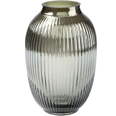 NEW Silver Palazzo Glass Vase - Linen House,Vases