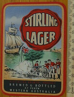 1 x RETRO STIRLING LAGER WESTERN AUSTRALIA COLLECTABLE BEER LABEL