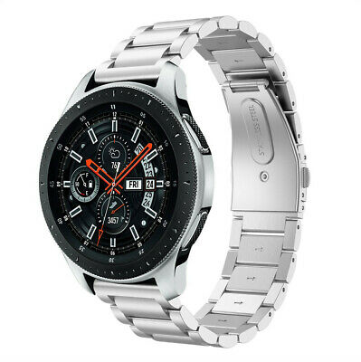 Silver Stainless Steel Watch Link Band Metal Strap for Samsung Galaxy Watch 46mm