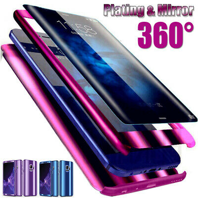 360° Plating Mirror Full Protect Case Cover For Samsung Galaxy S10 S9 Plus S10e