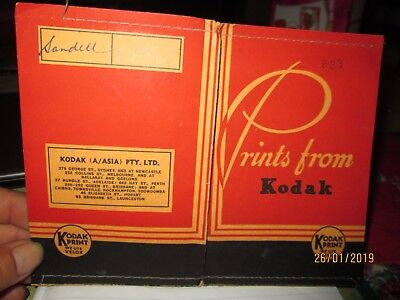 """PRINTS from KODAK"""" PACKETS WITH NEGATIVES-FILM D/  HISTORY."""