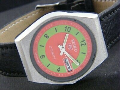 VINTAGE SEIKO 5 AUTOMATIC JAPAN MEN'S DAY/DATE WATCH 1061-a101272-1