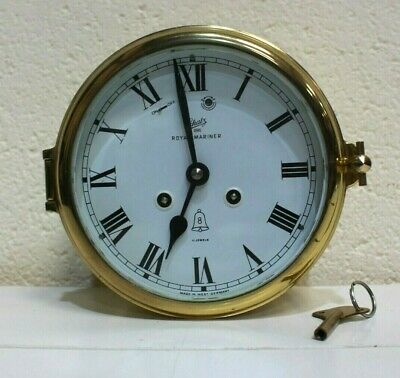 Vintage Schatz Brass Naval Royal Mariner Ships Clock - 254