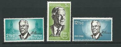 1966 Verwoerd Commemoration set of 3 MUH/MNH As Issued Value Here