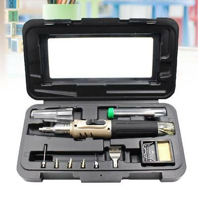 Portable Self-Ignition Gas Soldering Iron Cordless Welding Torch kit Tool - Gold