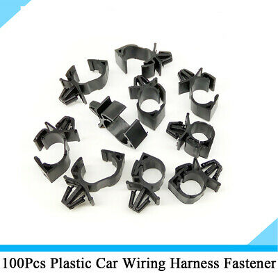 100x suv car wiring harness fastener fixed clips cable tie wrap clamp  universal