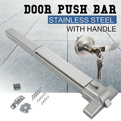 Door Push Bar Panic Exit Device With Handle Heavy Duty Hardware Latches