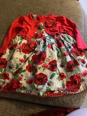 Monsoon Girls Dress 6-12 Months