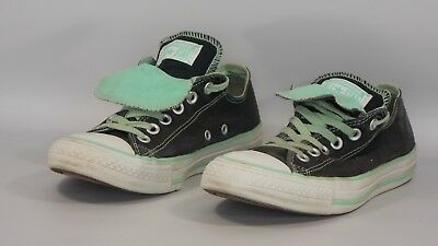 7c50fa266738 Converse All Star Women s Low Top Sneaker Black and Green size 8 Double  Tongue