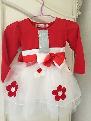Size S Red and White Baby Dress