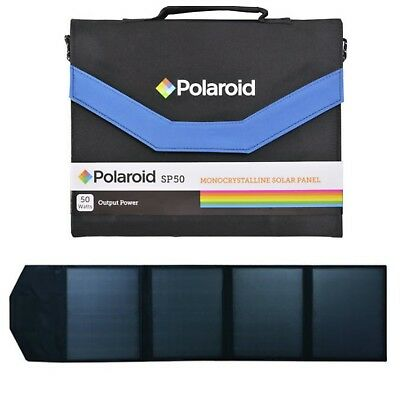 Polaroid 4 Solar Panels SP50 50 Watts Foldable charging monocrystalline charger