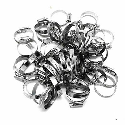 5 X Mikalor 16-27mm Stainless W2 Worm Drive Hose Clip