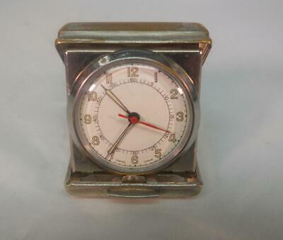 Vintage Art Deco Small Travel Clock with Swiss Movement