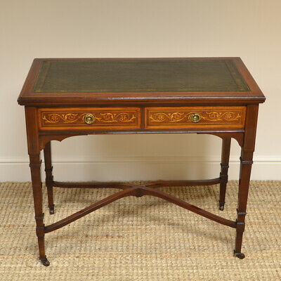 Quality Victorian Mahogany Antiques Games / Writing Table by Hampton and Sons