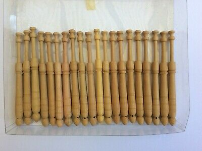 40 lace making bobbins   wood  12 cms long  Traditional  design   Touchan Style