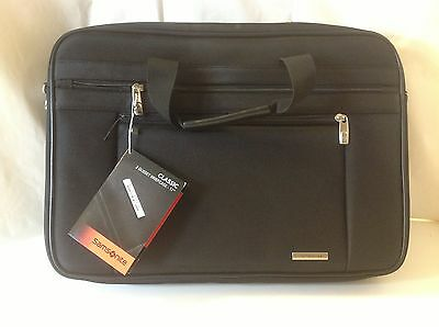 """Samsonite 2 Two Gusset Briefcase Classic Business Laptop Computer Case 17"""" New"""