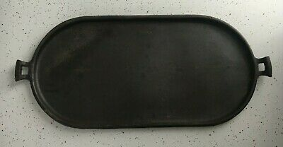 Large Antique Cast Iron Oval Griddle #6 or #9