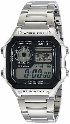 CASIO Chronograph AE-1200WHD-1A Digital Stainless Steel Men's Watch from Japan*