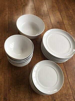 M&s Terrace Dining Set - 9 Large Dinner Plates, 9 Side Plates, 9 Soup/dessert