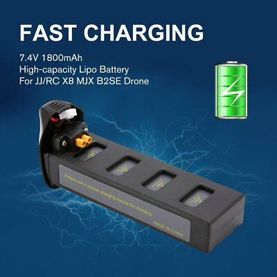 JJR/C X8 7.4V 1800mAh High-capacity Lipo Battery for JJ/RC X8 MJX B2SE Drone DE