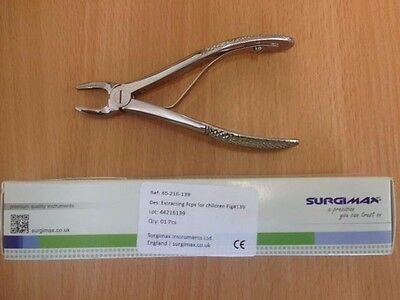 Dental Extracting Forceps For Children Fig #139 Surgimax CE