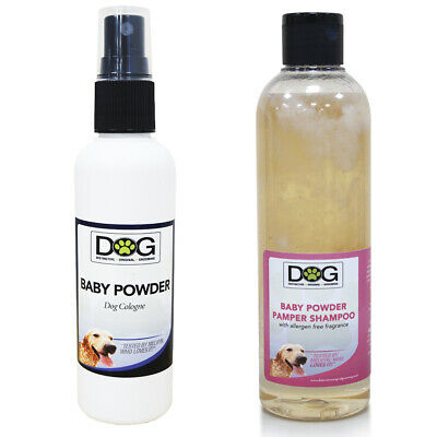 Baby Powder 100ml Dog Spray Cologne & 250ml Dog Shampoo Pamper Pack!