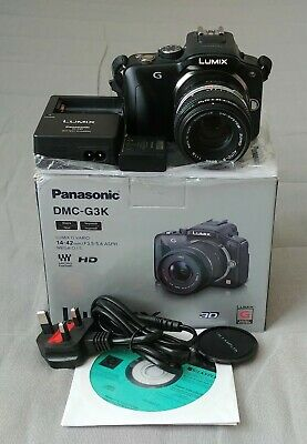 Panasonic LUMIX DMC-G3 16.0MP Digital Camera - Black with Olympus manual lens