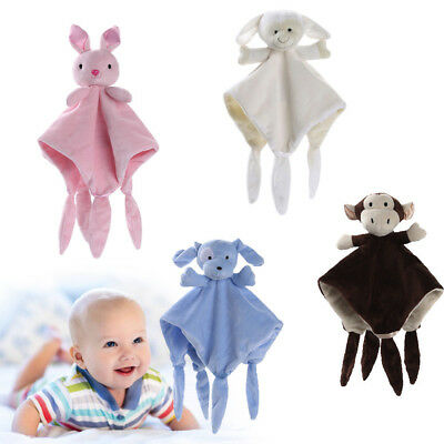 Newborn Soft Baby Teddy Bear Puppet Toys Gift Snuggle Baby Comforter Blankets