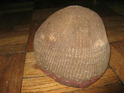 Antique Authentic Cameroon Kirdi African Woven Hat Worn