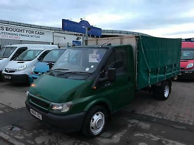 2004 04 Ford Transit Flatbed Curtainside Tailift Ramp Agricultural Very Rare !!!