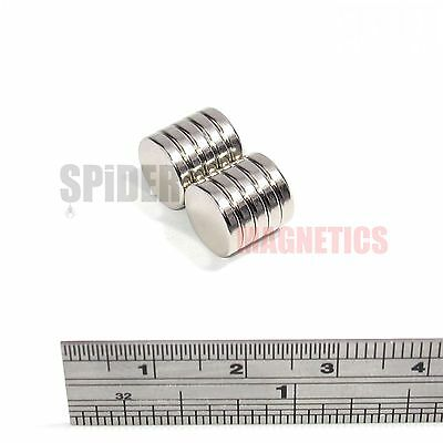 10 Magnets 10x2 mm Neodymium strong round craft magnet disk 10mm dia x 2mm