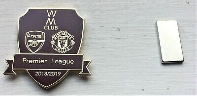 2019 OFFICIAL P/League Arsenal vs Manchester United WM Magnetic, Metallic Badge