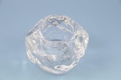 Towle Crystal Glacier Snowball Votive Tea Light Candle Holder Kosta Boda STYLE