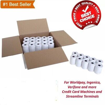 100 Rolls Of Thermal Paper 57x40mm Credit Card Machine PDQ SPECIAL OFFER