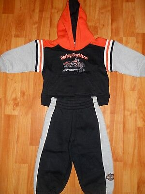 Gray 2070896 Harley-Davidson Little Boys 2-Piece French Terry Jogger Set