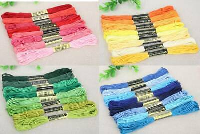 STRANDED COTTON 8 SKEINS PACKS IN VARIOUS COLOURS DMC EQUIVALENT - 60p PER SKEIN