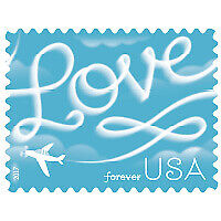 2000 stamp Love Skywriting US Forever Stamp 2017 Issue 100 Sheet of 20 Brand New