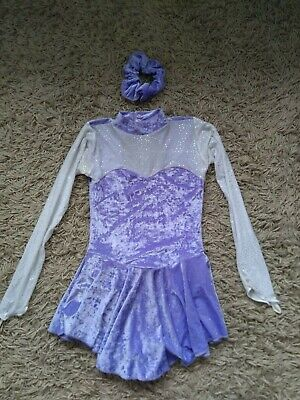 Tappers and Pointers Figure Skating Dress Size 2. Purple.